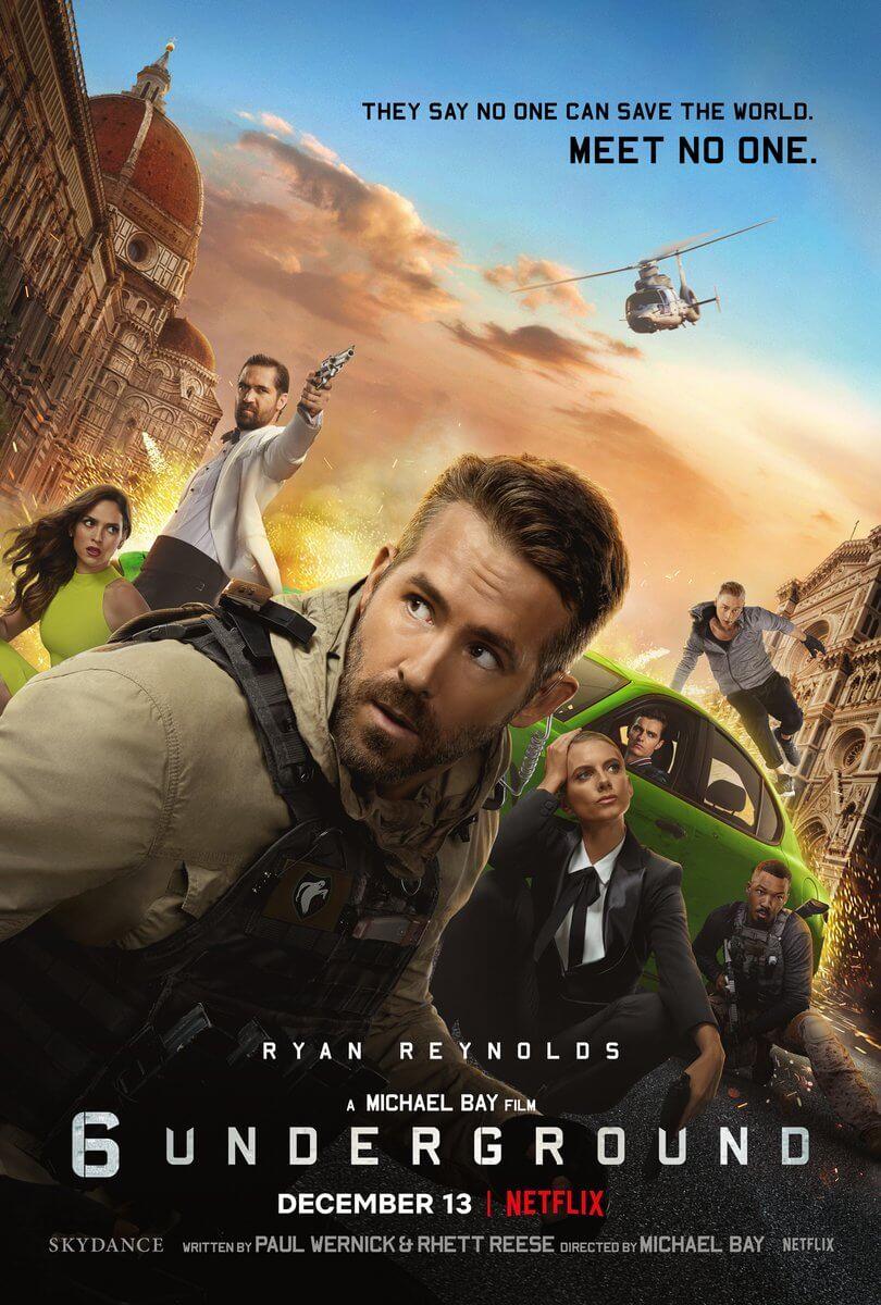 Netflix映画『6アンダーグラウンド』ネタバレ感想  マイケルベイっぽいと言われるのはわかる気がする